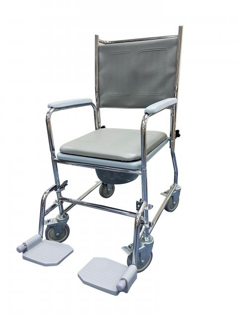 Wheeled Commode Chair Save General SEO Options Shipping Properties Quantity discounts Subscribers Add-ons Features Tabs Attachments Reviews Required products Review attributes Power labels Layouts Information Name Stop words Store The Mobility Shop PeopleVox Supplier code (3-char): Categories Price (€): Full description: This Commode chair has a chrome steel frame with swing away arms and a plastic commode pail which is easy to remove and clean. It comes with detachable padded vinyl seat, detachable backrest and swing away footrests. Specifications: