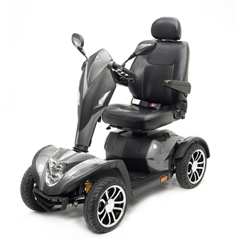 silver mobility scooter