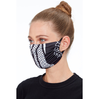 Reusable Face Mask Black Print