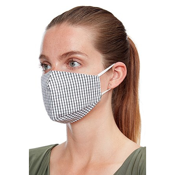 Reusable Face Mask White And Black Cheque