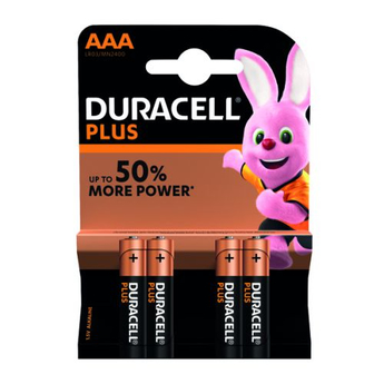 Duracell Plus 4 x AAA Battery Pack