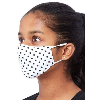 Kids Fabric Reusable Face Mask - Black Dots
