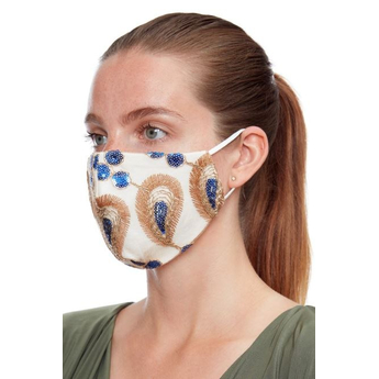 Reusable Face Mask Gold & Blue