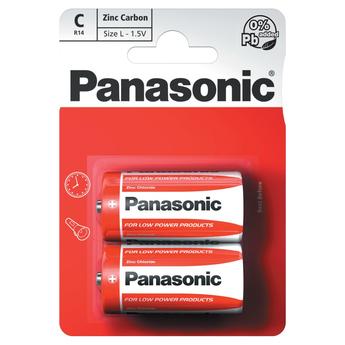 Panasonic Zinc Carbon 2 x C Battery Pack
