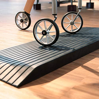Rubber Threshold Ramp 1000kg Capacity