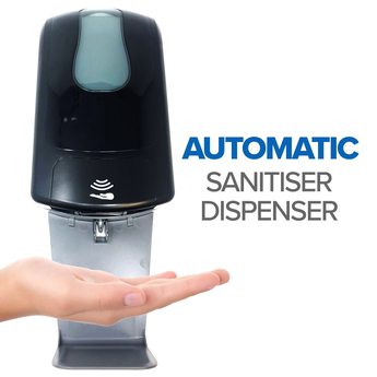 Black Commercial Hand sanitizer unit