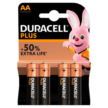 Duracell Plus 4 x AA Battery Pack