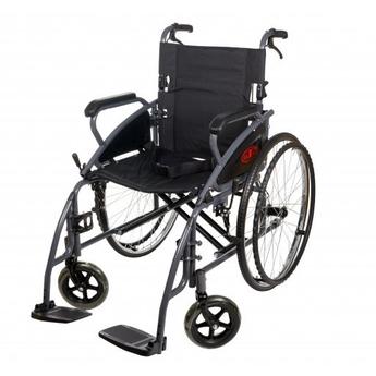 steel self propelled wheelchair black