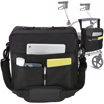 Universal Travel Tote Accessories Bag - Suitable for use with Rollators and Wheelchairs