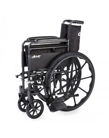 Silver Sport Wheelchair folded