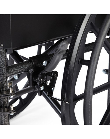 Silver Sport Wheelchair close up