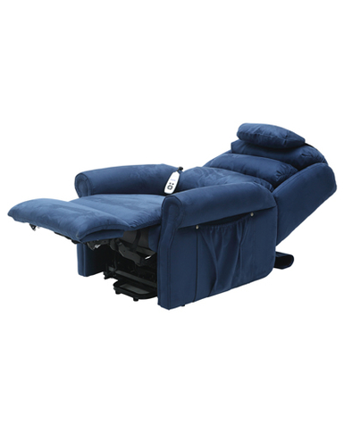 Sandfield Rise and Recline Dual Motor Armchair - Blue